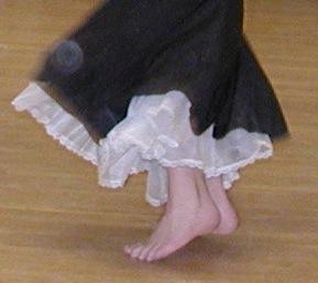 Rachel's dancing feet